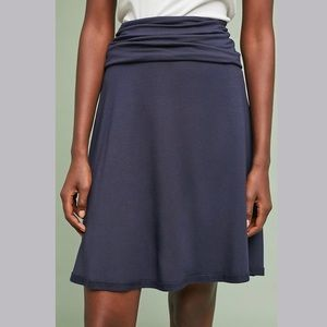 🆕NWT Anthropologie navy foldover waist skirt